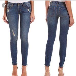CAbi 5087 Destructed Skinny Denim Jeans 4 Distress